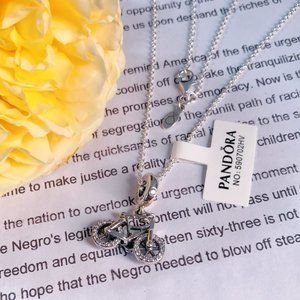 🎆NWT Pandora Bicycle Chain Necklace